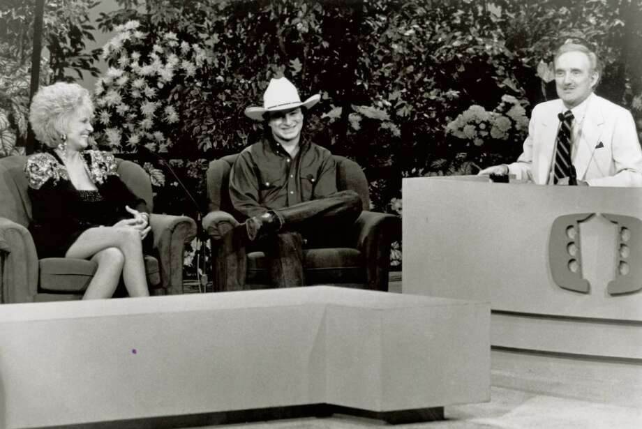 Mark Chesnut with Tammy Wynette and Ralph Emery during a guest appearance on TNN's 'Nashville Now.'