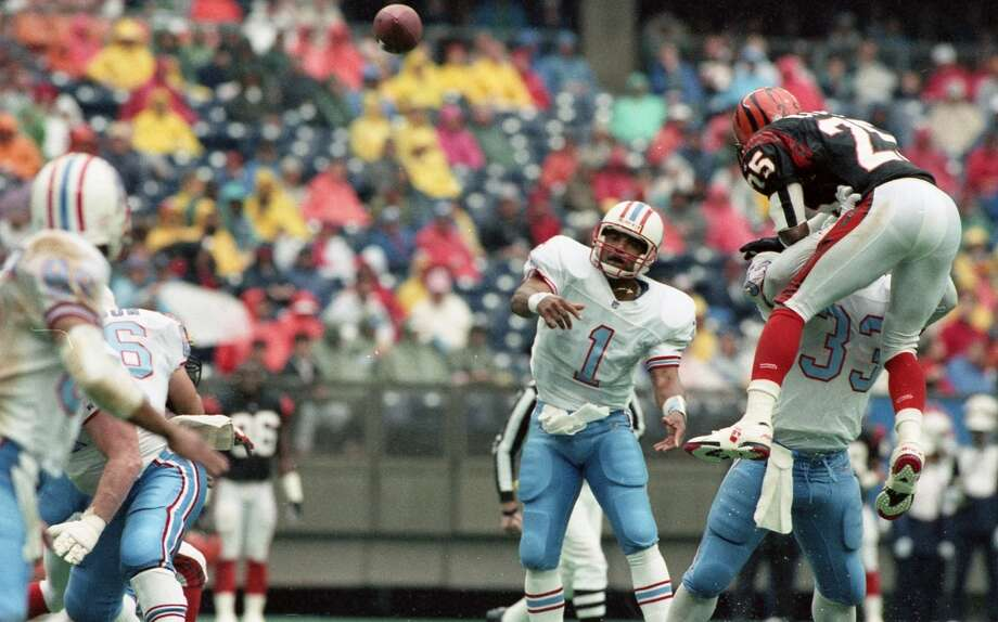 Warren Moon, QB, WashingtonMoon went undrafted in the NFL, so he chose to join the CFL, spending six seasons with the Edmonton Eskimos. He led them to five straight Grey Cup championships from 1978 to 1982. Moon joined the Oilers in 1984, where he played for 10 seasons. in his 17-year NFL career he reached the Pro Bowl nine times and was a three-time All-Pro selection. He ranks fifth in all-time in passing yards and was enshrined in the Hall of Fame in 2006.  Notable career stats: 203 starts, 49,325 passing yards, 291 TDs, 26 4th-quarter comebacks, 1,736 rushing yards and 22 rushing TDs. Photo: Dave Einsel, Houston Chronicle