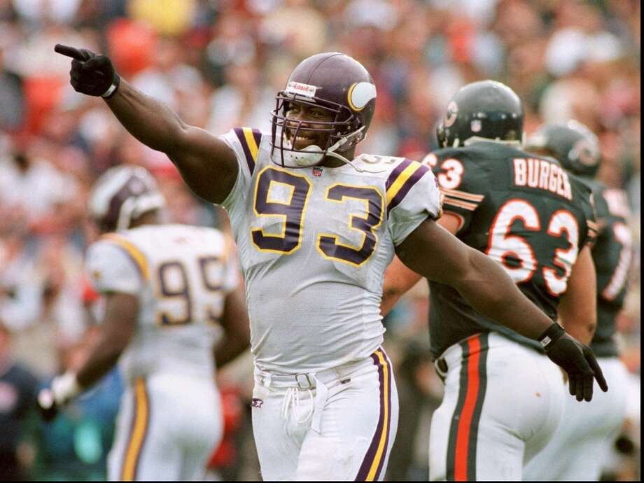 John Randle, DT, Texas A&M KingsvilleRandle signed with the Vikings after the 1990 draft in which one defensive tackle was selected in the first round (3rd overall by Seahawks - Cortez Kennedy, Miami). He became a full-time starter in 1992, totaling 11.5 sacks that season, his first in a string of eight consecutive years with double-digit sacks (he had nine overall). He led the league with 15.5 sacks in 1997. Randle's 137.5 sacks is the seventh most in NFL history. Randle made the Pro Bowl seven times, was an All-Pro six times and was selected for the Hall of Fame in 2010.  Notable career stats: 219 games (185 starts), 137.5 sacks, 471 tackles, 29 forced fumbles and 11 fumble recoveries. Photo: JEFF WHEELER, AP