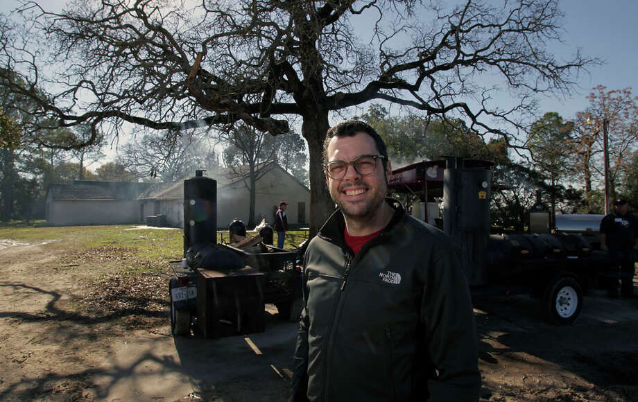 Franklin Barbecue's Aaron Franklin. Photo: James Nielsen, Houston Chronicle / © 2013  Houston Chronicle