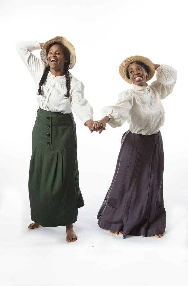 "Leslie Ivy and Jacqueline Dennis in Hillbarn Theatre's ""The Color Purple."" Photo: Mark Kitaoka"