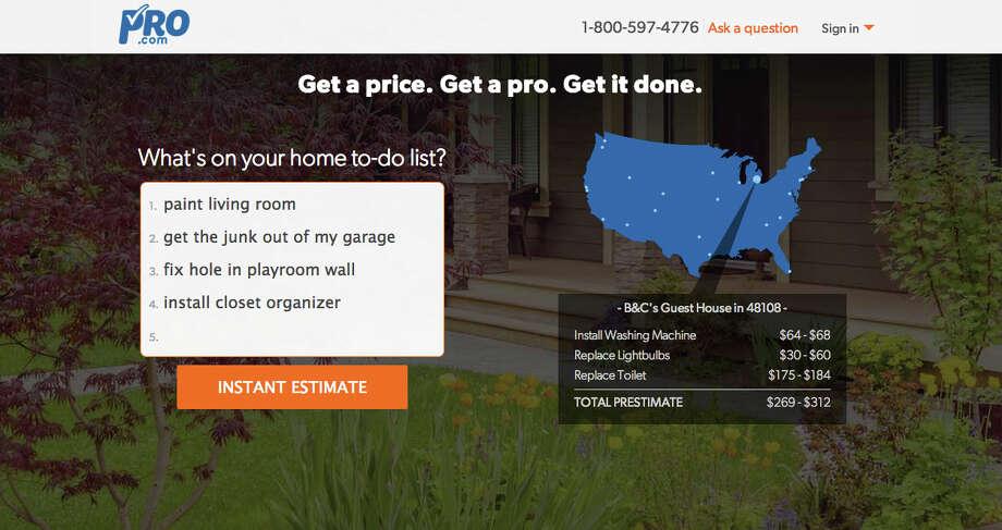 Pro.com screenshot of homepage Photo: Pro.com
