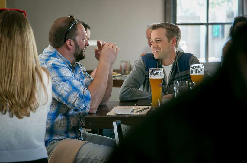 People Enjoy Happy Hour At Stein 39 S Beer Garden In Mountain