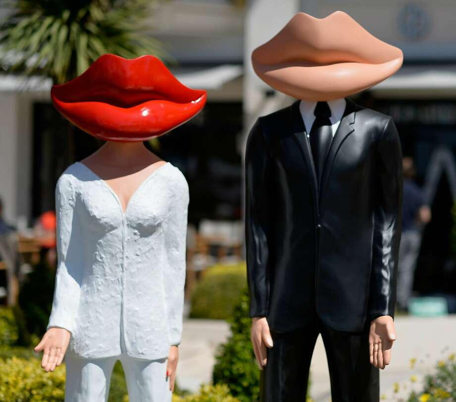 We were made for each other: Another couple at the Cannes Film Festival. Photo: Pascal Le Segretain, Getty Images