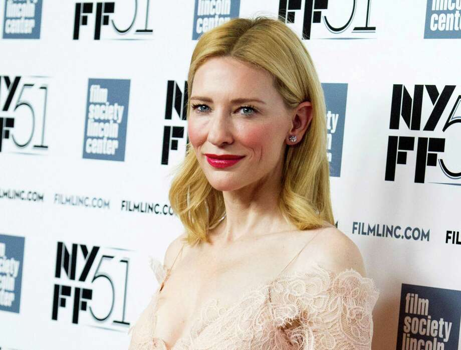 """FILE - This Oct. 2, 2013 file photo shows Cate Blanchett at the New York Film Festival Gala Tribute held in her honor in New York. Blanchett was nominated for a Golden Globe for best actress in a motion picture drama for her role in the film """"Blue Jasmine"""" on Thursday, Dec. 12, 2013.  The 71st annual Golden Globes will air on Sunday, Jan. 12. (Photo by Charles Sykes/Invision/AP, File) ORG XMIT: NYET730 Photo: Charles Sykes / Invision"""