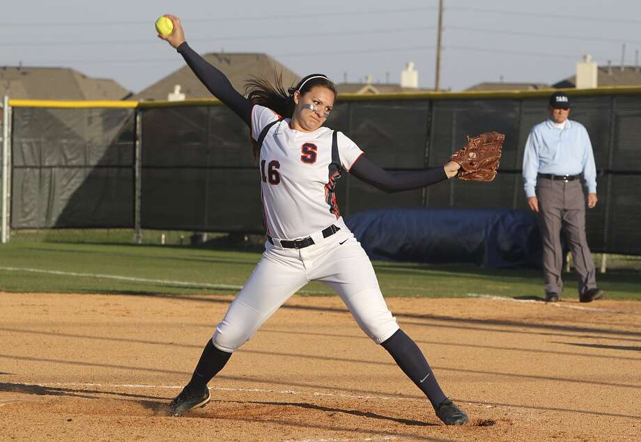 Maddie Stulce was a key player for Seven Lakes in their run to the Region III-5A semifinals, and hopes to walk on at Texas A&M this fall. Photo: Diana L. Porter, Freelance / © Diana L. Porter