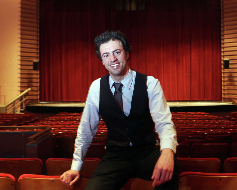 Eric Jacobsen is the new music director and conductor of the Greater Bridgeport Symphony. Jacobsen arrived at the Klein on Monday, May 12, 2014. Photo: BK Angeletti, B.K. Angeletti / Connecticut Post freelance B.K. Angeletti