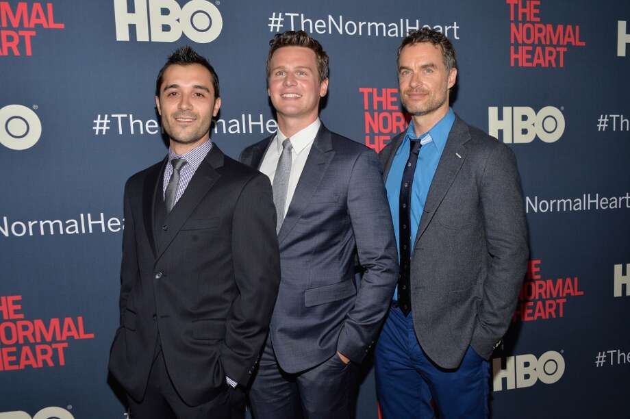 "Frankie J. Alvarez, Jonathan Groff and Murray Bartlett attend the New York premiere of ""The Normal Heart"" at Ziegfeld Theater on May 12, 2014 in New York City. Photo: Ben Gabbe, Getty Images"