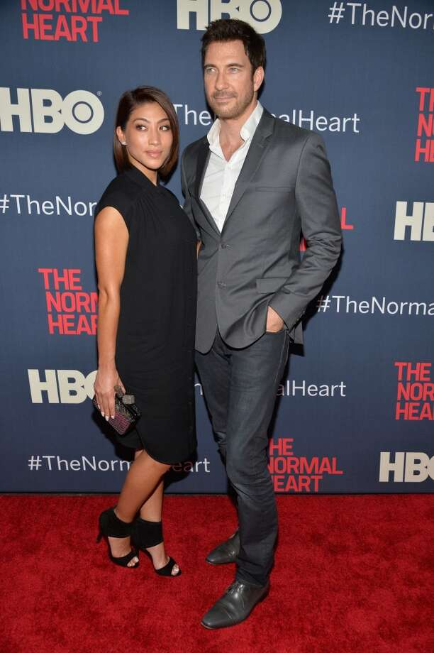 "Actor Dylan McDermott (R) and Shasi Wells attend the New York premiere of ""The Normal Heart"" at Ziegfeld Theater on May 12, 2014 in New York City. Photo: Ben Gabbe, Getty Images"