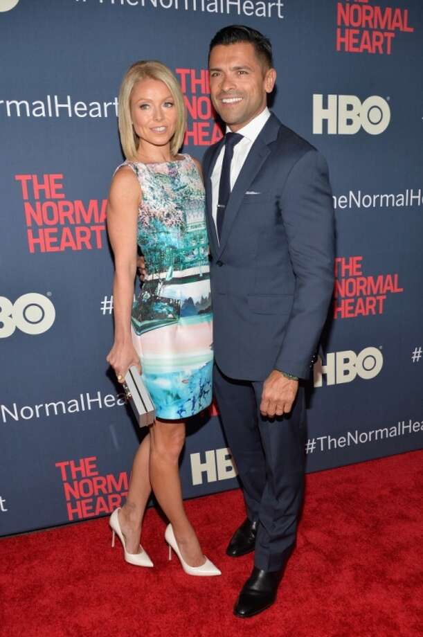 "Kelly Ripa and Mark Consuelos attend the New York premiere of ""The Normal Heart"" at Ziegfeld Theater on May 12, 2014 in New York City. Photo: Ben Gabbe, Getty Images"