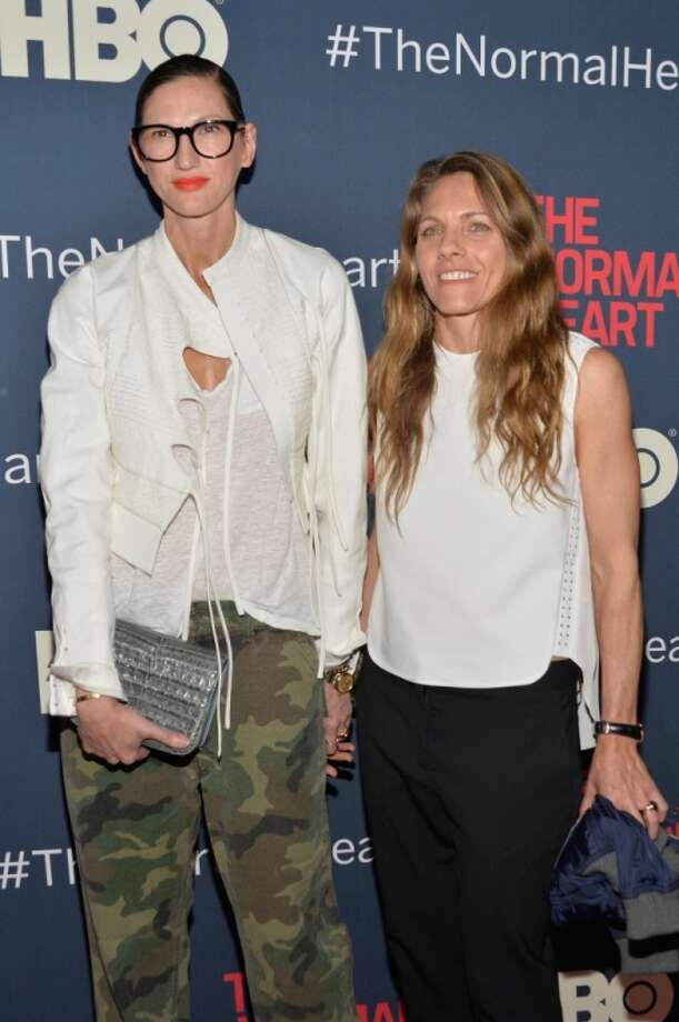 "Jenna Lyons and Courtney Crangi attend the New York premiere of ""The Normal Heart"" at Ziegfeld Theater on May 12, 2014 in New York City. Photo: Ben Gabbe, Getty Images"