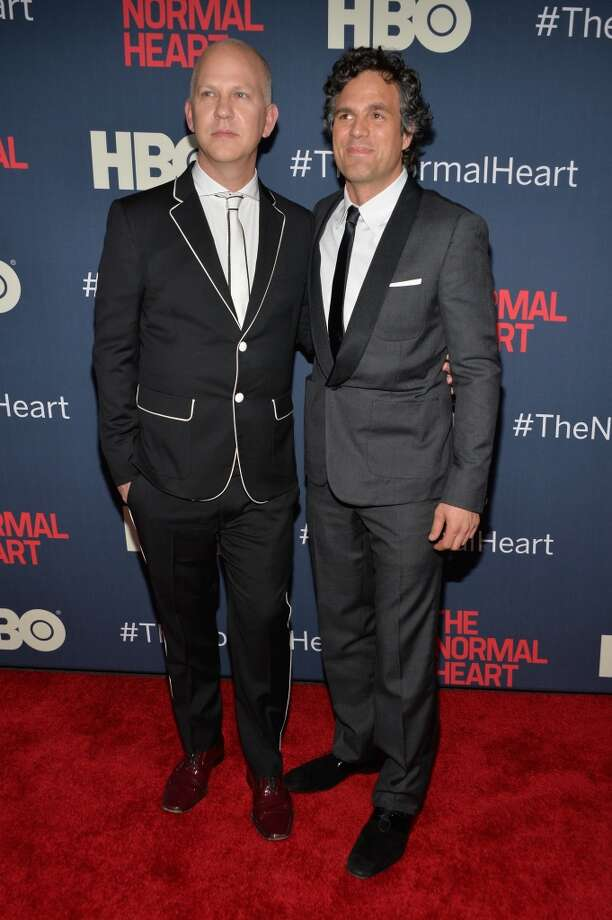 "Executive Producer and Director Ryan Murphy and Actor Mark Ruffalo attend the New York premiere of ""The Normal Heart"" at Ziegfeld Theater on May 12, 2014 in New York City. Photo: Ben Gabbe, Getty Images"