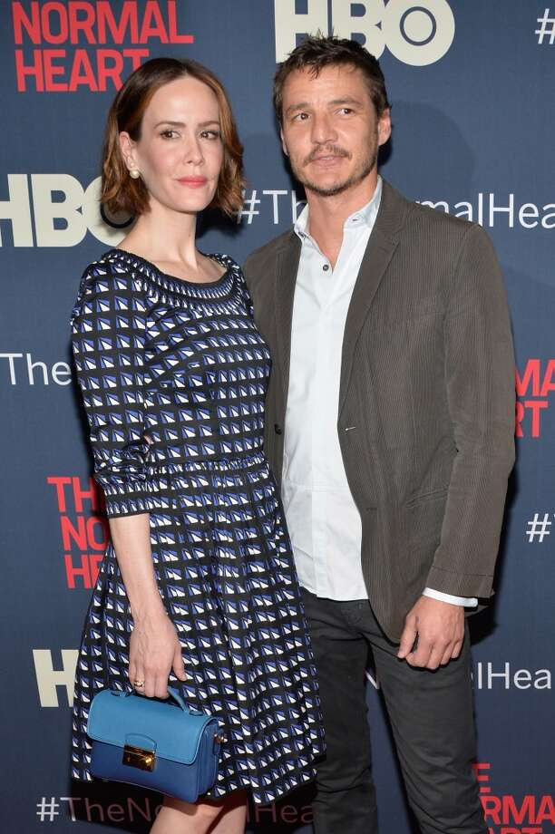 "Actress Sarah Paulson and actor Pedro Pascal attend the New York premiere of ""The Normal Heart"" at Ziegfeld Theater on May 12, 2014 in New York City. Photo: Ben Gabbe, Getty Images"