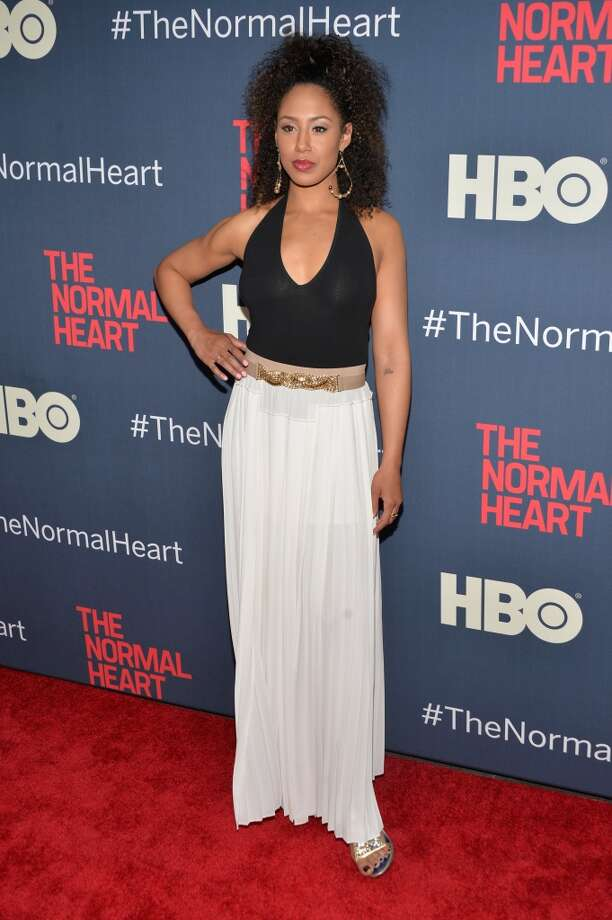"Margot Bingham attends the New York premiere of ""The Normal Heart"" at Ziegfeld Theater on May 12, 2014 in New York City. Photo: Ben Gabbe, Getty Images"