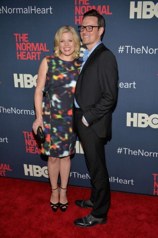 "Megan Hilty and Brian Gallagher attends the New York premiere of ""The Normal Heart"" at Ziegfeld Theater on May 12, 2014 in New York City. Photo: Ben Gabbe, Getty Images"