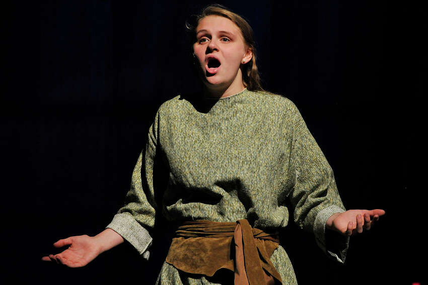 Patty Kohn sings as she plays the part of Yonah during the dress rehearsal performance of