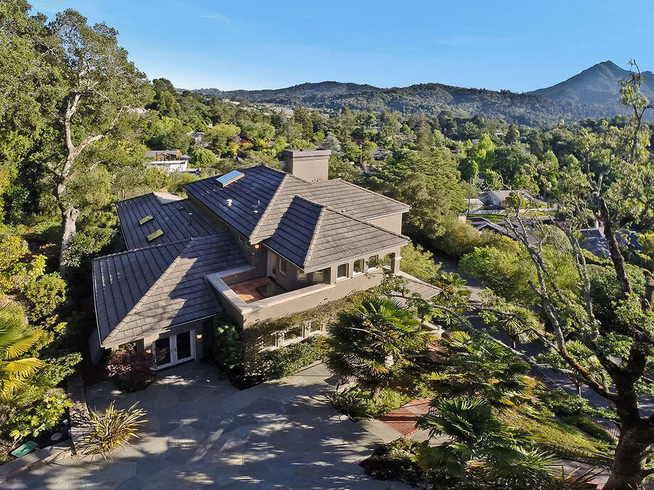 This aerial photo is of a property in Mill Valley, California.  Photo: OpenHomesPhotography.com/Courtesy