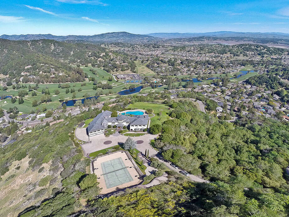 This aerial photo is of a property in Novato, California.  Photo: OpenHomesPhotography.com/Courtesy