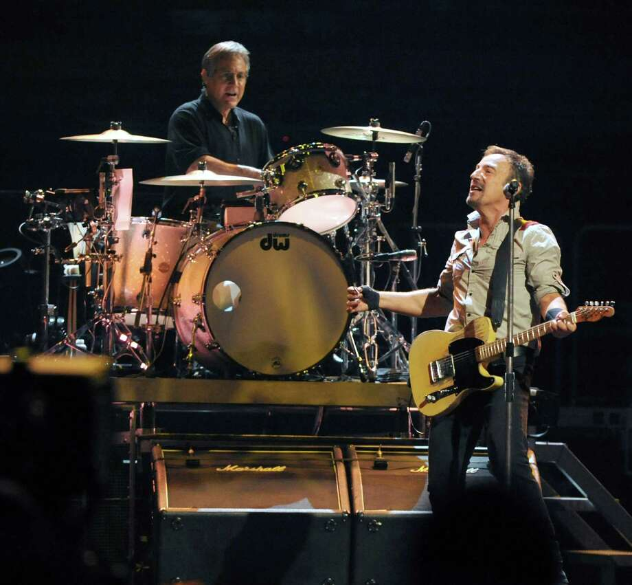 Bruce Springsteen, right, and The E Street Band perform at the Times Union Center on Tuesday May 13, 2014 in Albany, N.Y. (Michael P. Farrell/Times Union) Photo: Michael P. Farrell / 00026878A