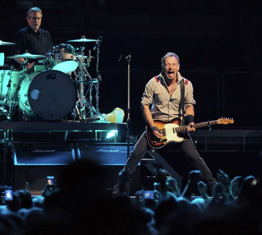 Click through for a gallery of images of Bruce Springsteen concerts in the Capital Region through the years. Springsteen, right, and The E Street Band perform at the Times Union Center on Tuesday May 13, 2014 in Albany, N.Y. (Michael P. Farrell/Times Union)