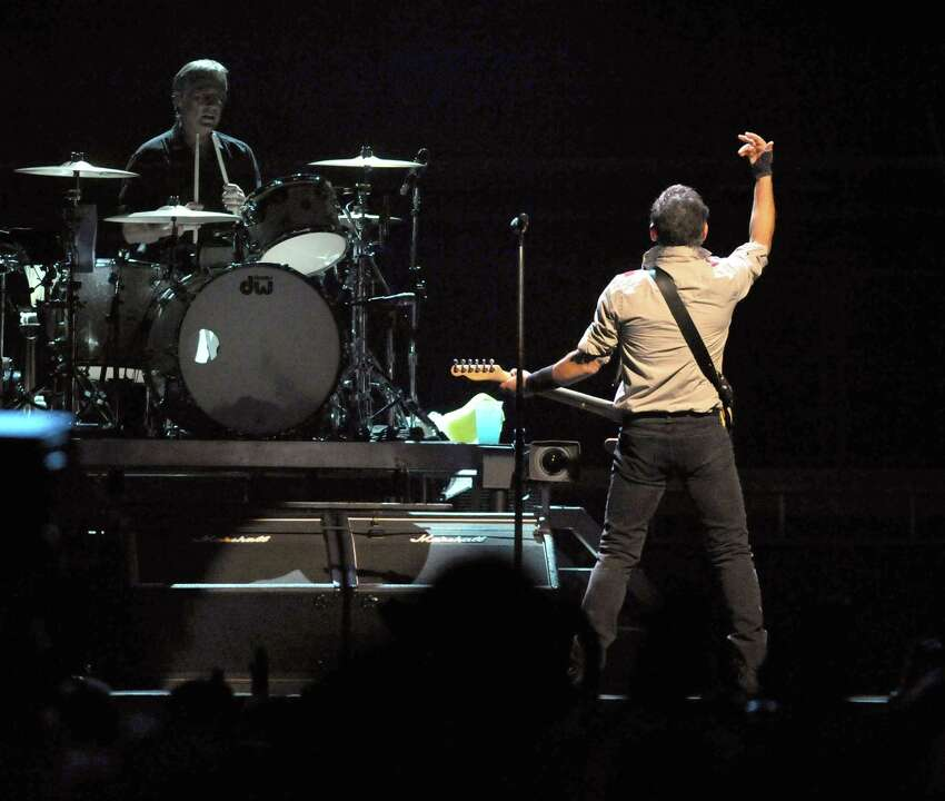 Bruce Springsteen, right, and The E Street Band perform at the Times Union Center on Tuesday May 13, 2014 in Albany, N.Y. (Michael P. Farrell/Times Union)