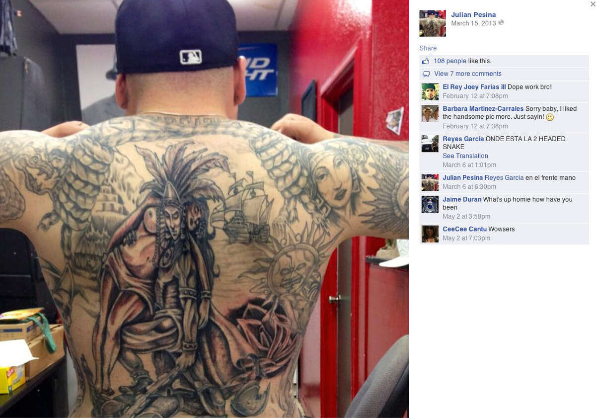 This is an image of Balcones Heights police officer Julian Pesina's taken from his Facebook page.