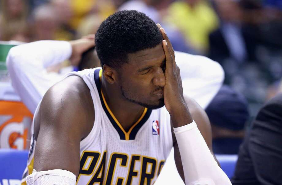 A chance to clinch the series turns into a miserable night for Roy Hibbert and the Pacers. Photo: Andy Lyons, Staff / 2014 Getty Images