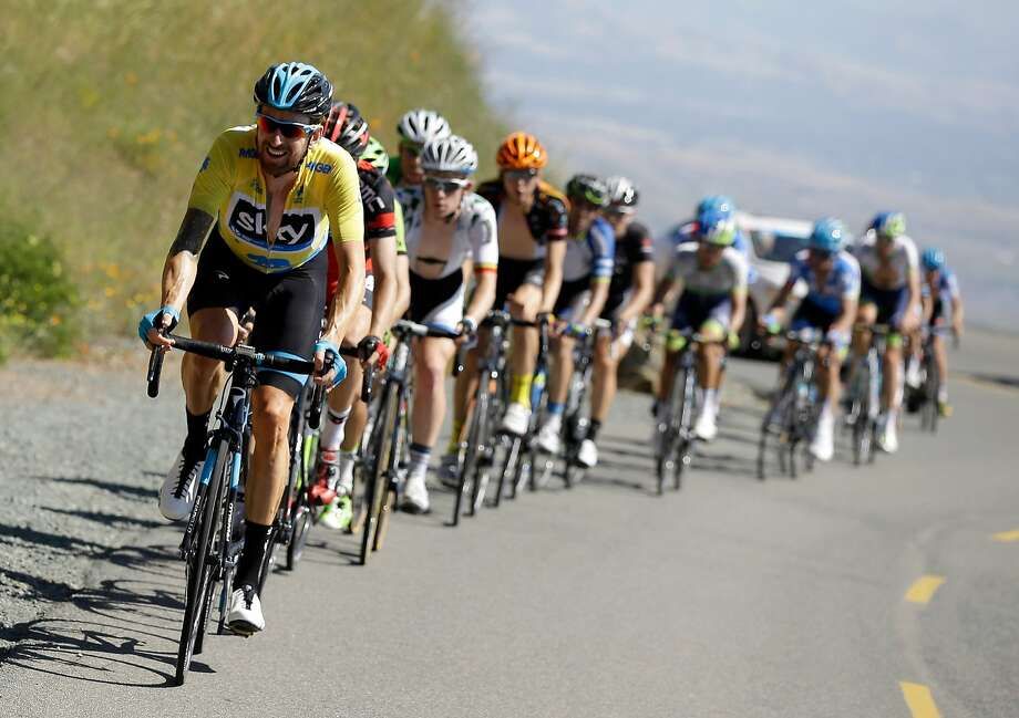 Sir Bradley Wiggins of Great Britain riding for Team Sky leads a group of riders up Mount Diablo during stage three of the the 2014 Amgen Tour of California from San Jose to Mount Diablo on May 13, 2014 in Clayton. Photo: Ezra Shaw, Getty Images
