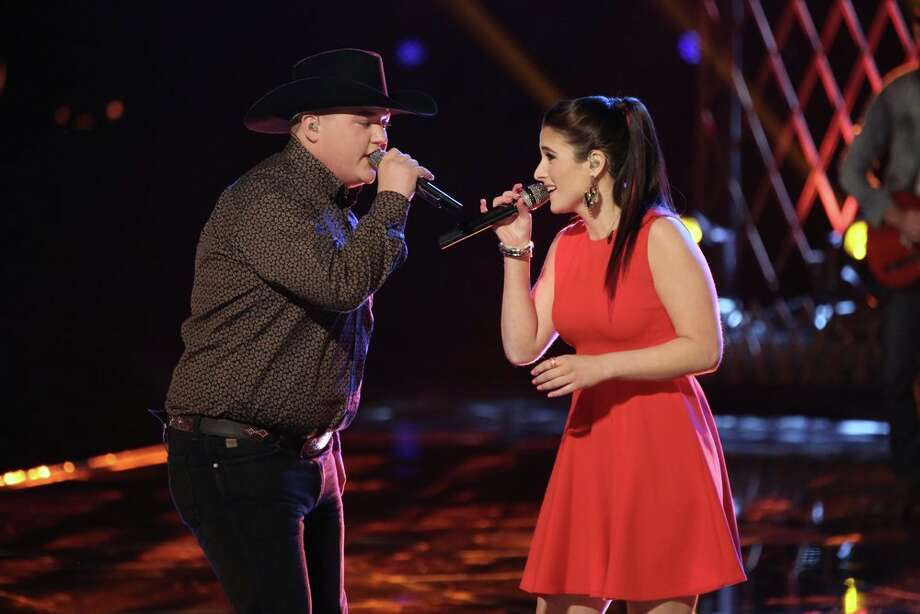 "THE VOICE -- ""Live Show"" Episode 619B -- Pictured: (l-r) Jake Worthington, Audra McLaughlin -- (Photo by: Tyler Golden/NBC) Photo: NBC, Tyler Golden/NBC / 2014 NBCUniversal Media, LLC"