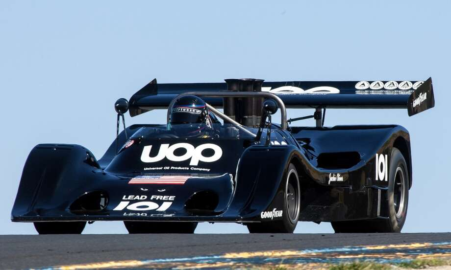 This Shadow race car, currently owned by Fred Cziska, was campaigned 40 years ago in the fabled Can-Am Series. The Shadow, along with several other cars from that series, will be at Sonoma Raceway in Sonoma County this weekend (May 17 and 18, 2014) as part of the Sonoma Historic Motorsports Festival. Can-Am cars will be the featured category at the festival. (Photo credit: Stephen Scharf)
