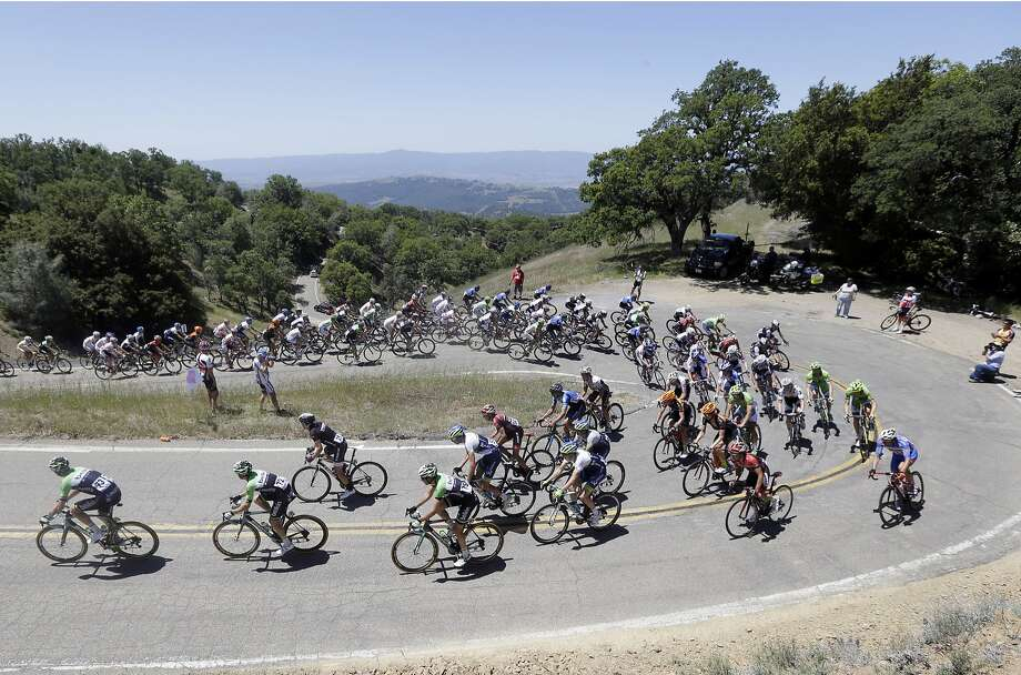 Riders make the climb on Mt. Hamilton during stage 3 of the Tour of California cycling race on Tuesday, May 13, 2014, in San Jose. Photo: Marcio Jose Sanchez, Associated Press