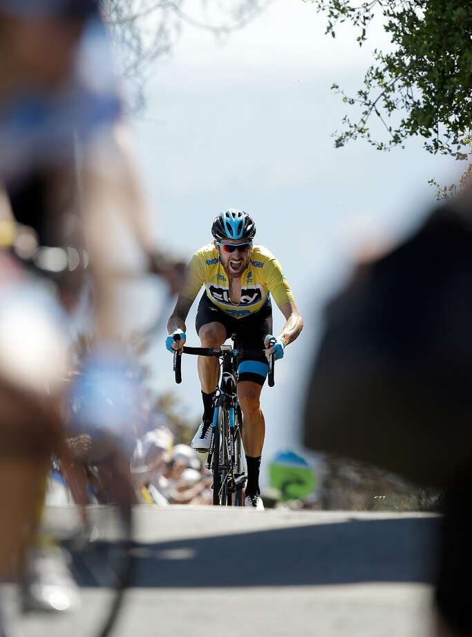 Sir Bradley Wiggins of Great Britain riding for Team Sky races to the finish line during stage three of the the 2014 Amgen Tour of California from San Jose to Mount Diablo on May 13, 2014 in Clayton. Photo: Ezra Shaw, Getty Images