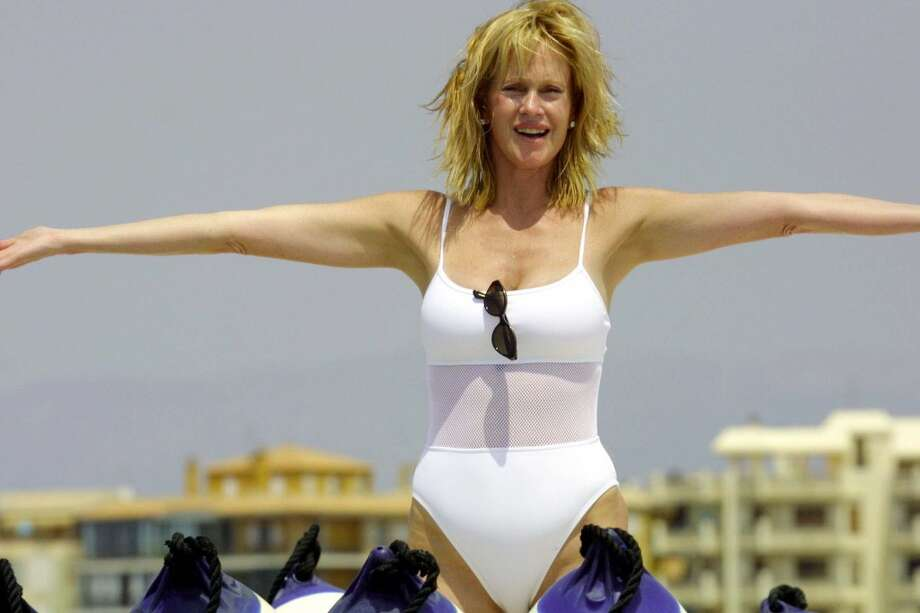 "392878 17: Actress Melanie Griffith stands on a boat during the ""Copa Del Rey"" regatta August 4, 2001 in Palma de Mallorca, Spain. Photo: Interactive Press, Getty Images"