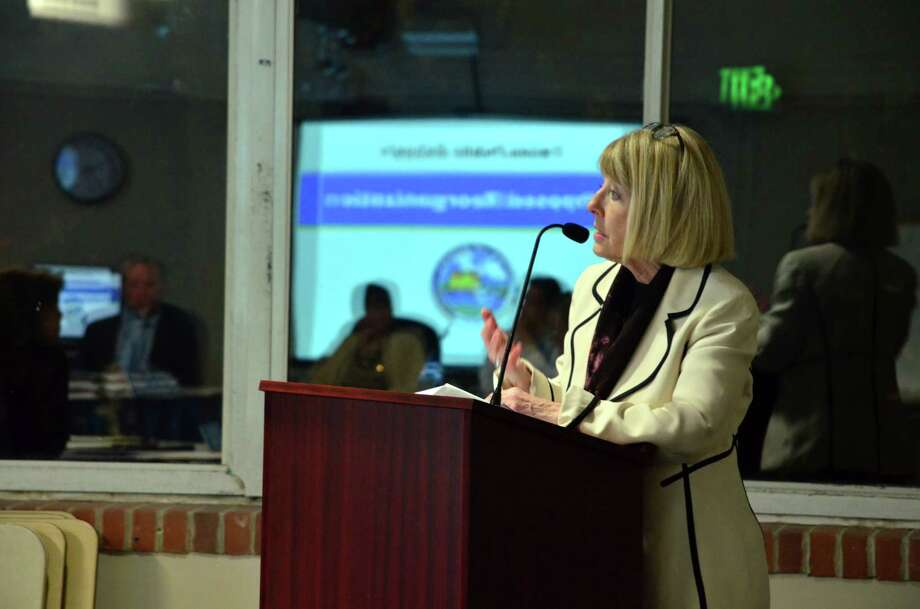 Interim Superintendent Lynne Pierson will stay on in her roll until June 30, 2015 or until the Board of Education hires a new superintendent. Photo: Megan Spicer / Darien News