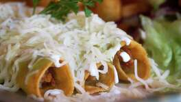 Chicken taquitos at Pollo Bravo on Saturday, Oct. 27, 2012, in Houston. ( J. Patric Schneider / For the Chronicle )