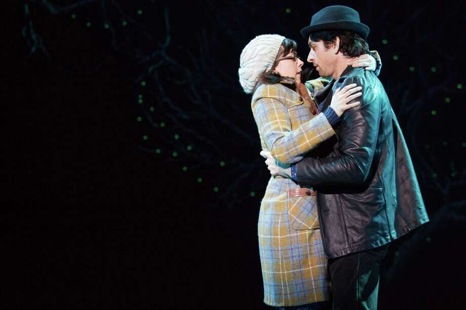 """Shy Adrian (Margo Seibert) and tough boxer Rocky (Andy Karl) fall in love in the Broadway musical  """"Rocky."""" Photo: Matthew Murphy, HOEP / Polk and Co."""