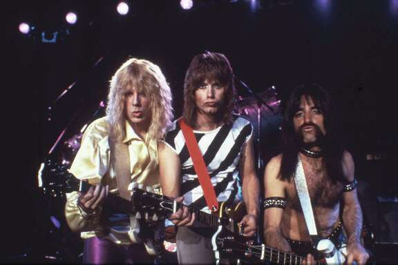 "Michael McKean, from left, Christopher Guest and Harry Shearer play fictional heavy-metal has-beens in ""This Is Spinal Tap."""