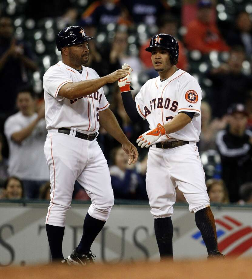 May 13: Astros 8, Rangers 0No. 5 starter Dallas Keuchel tosses a gem, allowing just seven hits in pitching the Astros' first complete-game shutout of the season to draw even in the weekday series with the rival Rangers.Record: 13-27. Photo: Karen Warren, Houston Chronicle