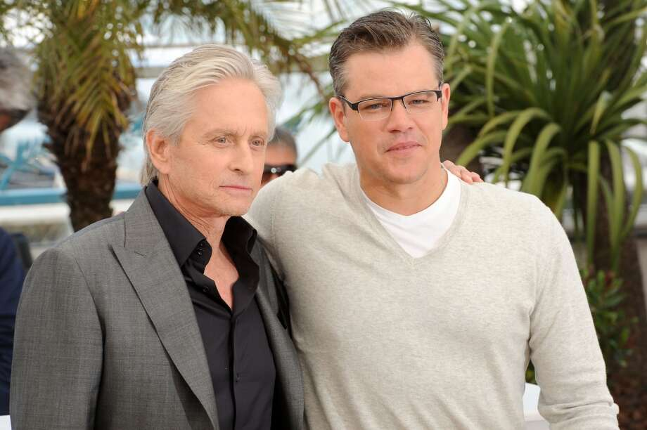 Actors Michael Douglas and Matt Damon attend the 'Behind The Candelabra' Photocall during The 66th Annual Cannes Film Festival at the Palais des Festivals on May 21, 2013 in Cannes, France. Photo: Dave J Hogan, Getty Images