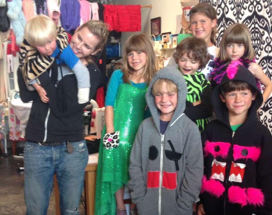 Alexandria von Bromssen (second from left) with her current Camp Couture students. Photo: Alexandria Von Bromssen