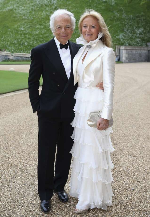 Ralph Lauren and Ricky Anne Loew-Beer arrive for a dinner to celebrate the work of The Royal Marsden hosted by the Duke of Cambridge at Windsor Castle Tuesday May 13, 2014 in Windsor, England. Photo: Chris Jackson, Associated Press