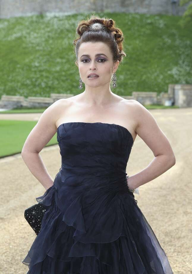 Actress Helena Bonham-Carter arrives for a dinner hosted by the Duke of Cambridge to celebrate the work of The Royal Marsden,  at Windsor Castle, England, Tuesday, May 13, 2014.    The Royal Marsden is the largest and most comprehensive cancer centre in Europe, a centre of excellence with an international reputation for ground breaking research and forging new treatments that save lives. Photo: Chris Jackson, Associated Press