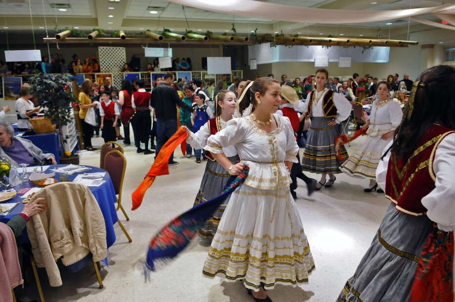 Young dancers perform at the annual Greek Festival at St. Sophia Greek Orthodox Church in Albany. (Times Union archive)