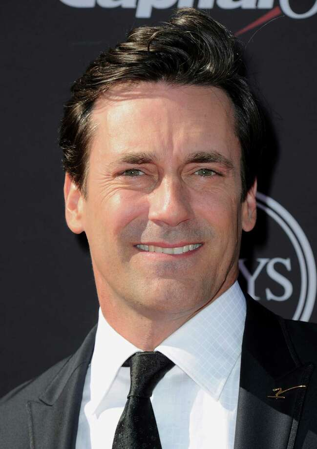 Jon Hamm arrives at the ESPY Awards on Wednesday, July 17, 2013, at the Nokia Theater in Los Angeles. (Photo by Jordan Strauss/Invision/AP) ORG XMIT: CAPM179 Photo: Jordan Strauss / Invision