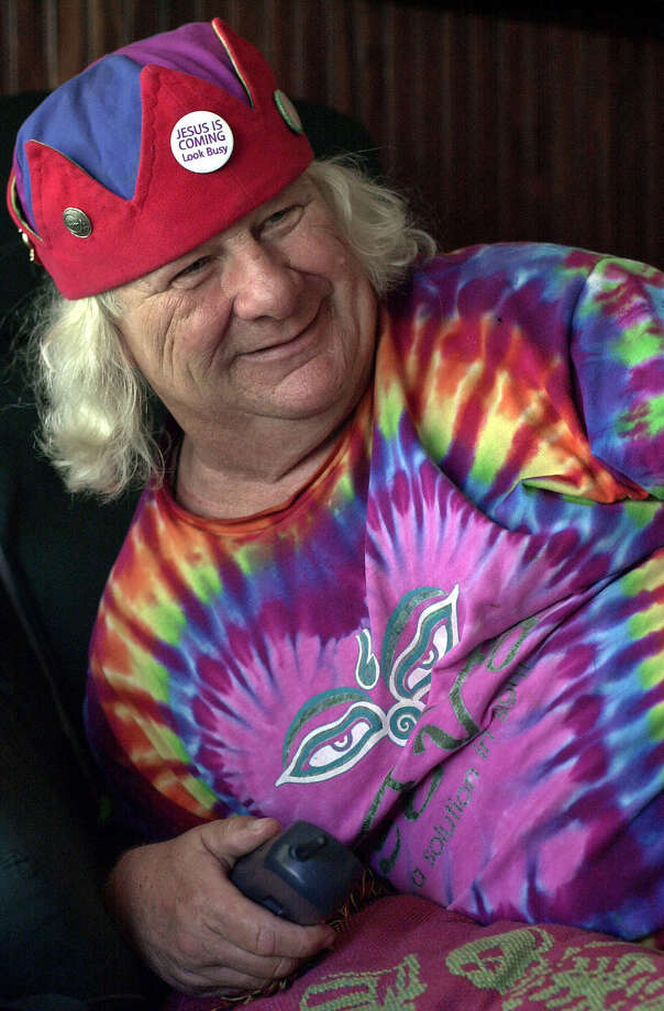 Wavy Gravy smiles during an interview Tuesday, May 8, 2001, in Berkeley, Calif. He made them laugh at Woodstock and stuck his clown's nose into the thick of the anti-war movement in Berkeley. This month, Wavy Gravy does something truly revolutionary: he turns 65. (AP Photo/Ben Margot) Photo: BEN MARGOT / AP