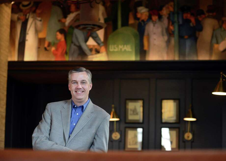 Mark Moeller, general manager of POST 154, stands in the new restaurant and bar which is in the former U.S. post office on Post Road in Westport, Conn. Photo: Autumn Driscoll / Connecticut Post