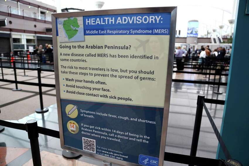 The first laboratory confirmed case of the virus in the United States was reported in Indiana on May 2 after an individual traveled to Saudi Arabia. A second case was reported in Florida a week later. Signs like these have been erected at airports across the country since those reported cases.