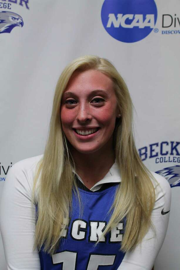 Ashley Mossey, a Shenendehowa graduate, was named New England Collegiate Conference women's lacrosse Player of the Year for the second straight season for Becker College. (Becker sports information)