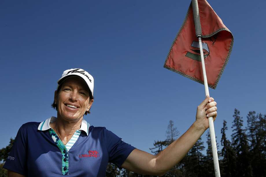In her part-time job as an LPGA course reporter, Juli Inkster hopes to give viewers a sense of the players' personalities. Photo: Michael Short, The Chronicle