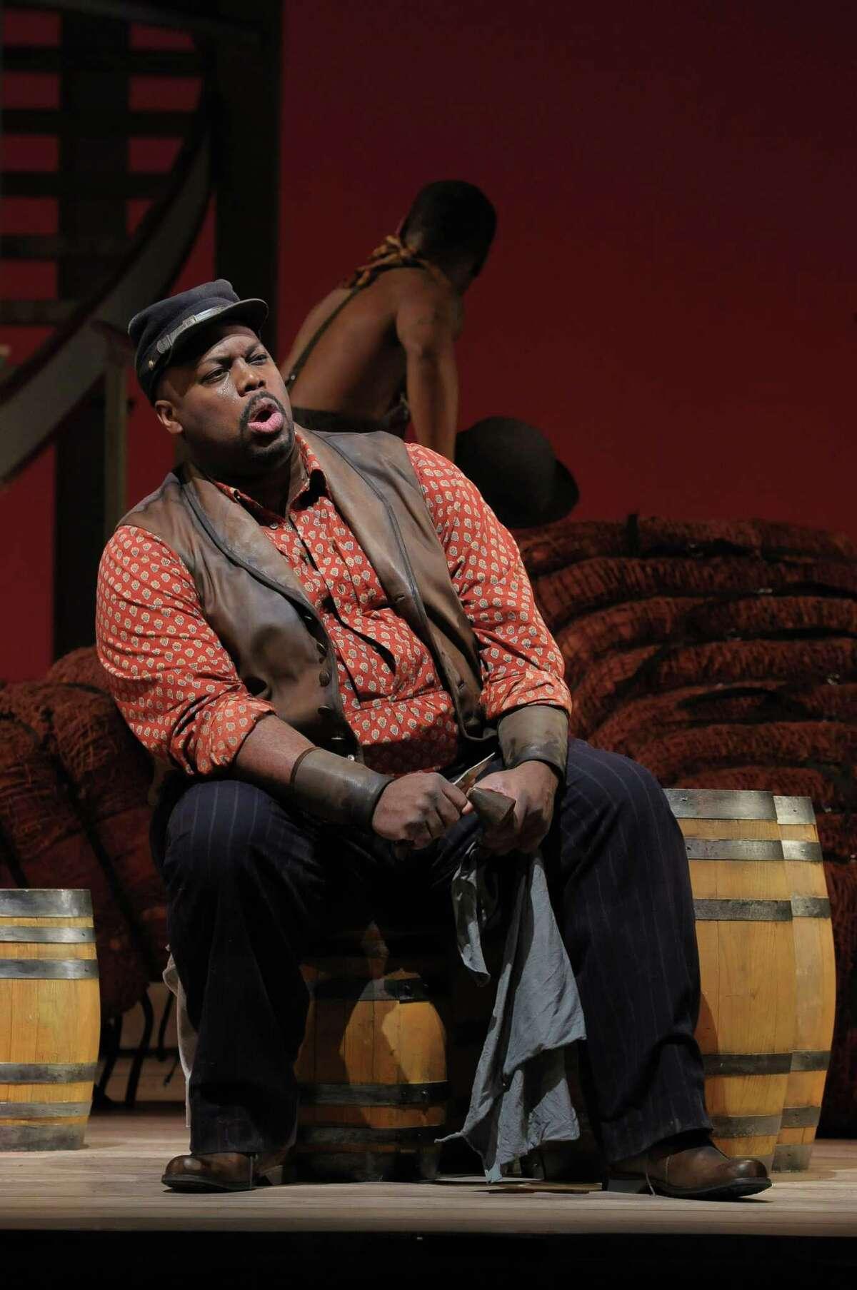 "Morris Robinson as Joe sings ""Ol' Man River""in San Francisco Opera's ""Show Boat,"" a co-production with Lyric Opera of Chicago, Washington National Opera and Houston Grand Opera."